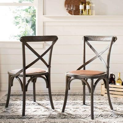 Frederick X Back Farmhouse Chair Distressed Colonial Walnut (Set of 2)