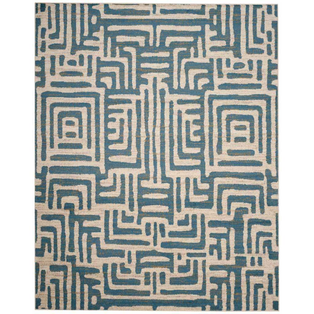Amsterdam Ivory/Light Blue Area Rug