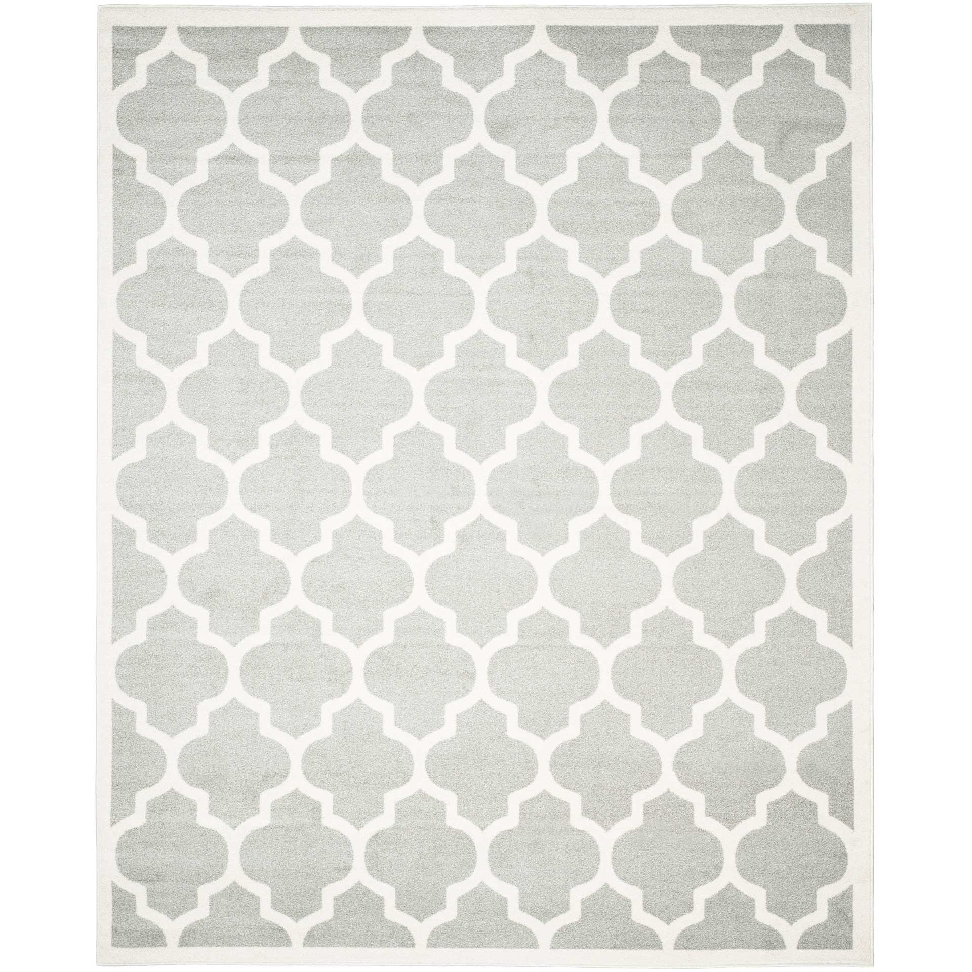 Amherst Quatrefoil Light Gray/Beige Area Rug