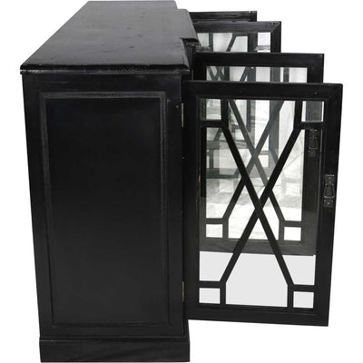 Caprice 4 Door Sideboard Black