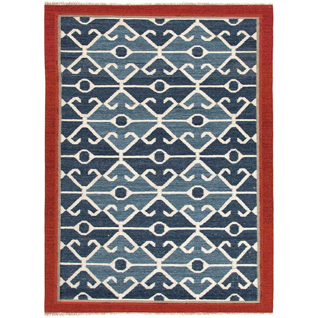 Anatolia Sultan Smoke Blue/Red Area Rug