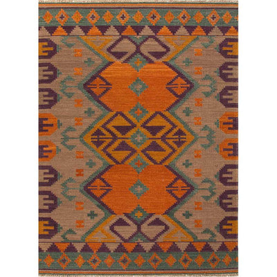 Anatolia Kaliediscope Warm Tan/Faded Teal Area Rug