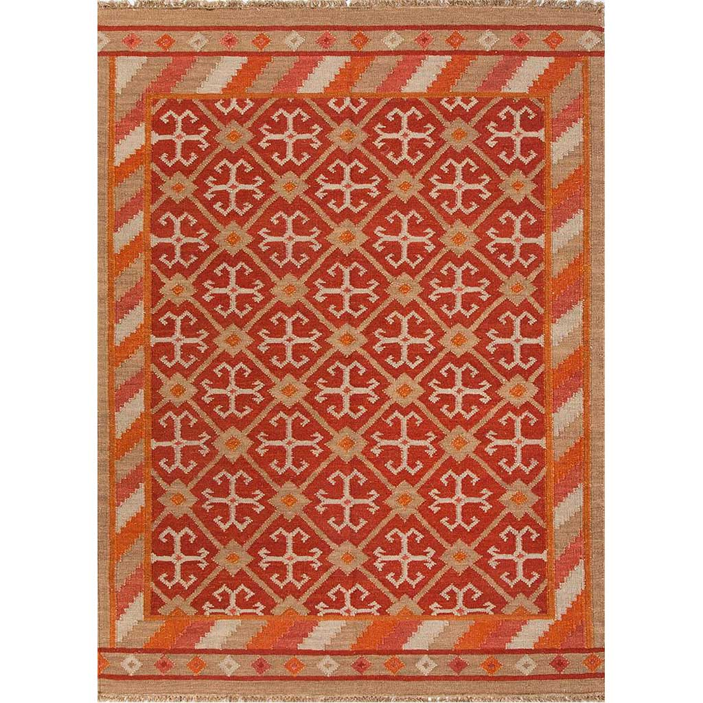 Anatolia Wings Mars Red/Medium Peach Area Rug