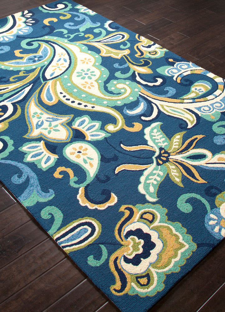 Barcelona Calico Blue Area Rug