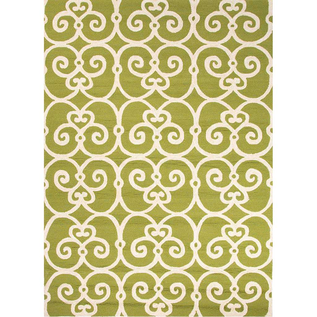 Barcelona Ironwork Green/White Area Rug