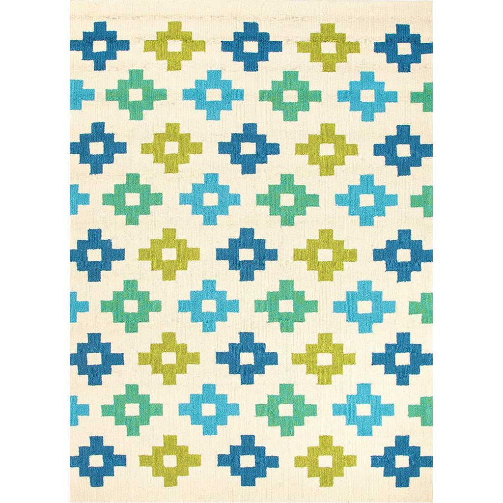 Barcelona Tile Work Beige Area Rug