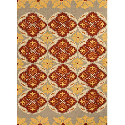 Barcelona Malta Beige/Orange Area Rug