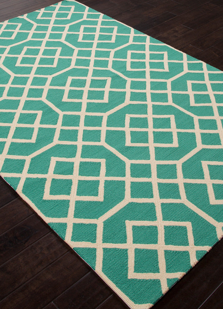 Barcelona Belvedere Green/White Area Rug