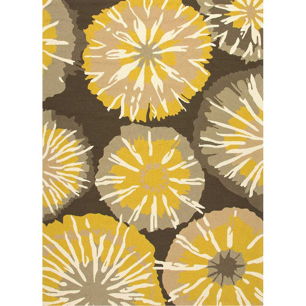 Barcelona Starburst Gray/Yellow Area Rug