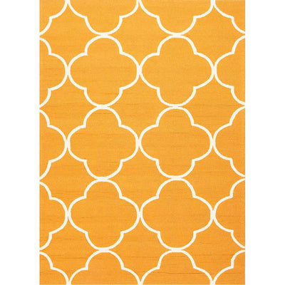 Barcelona Sparten Orange/White Area Rug