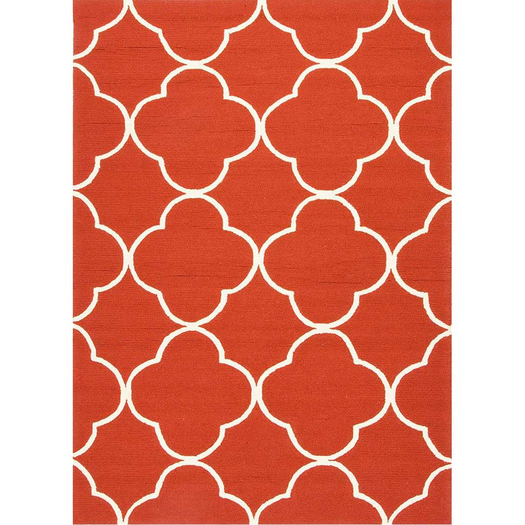 Barcelona Sparten Red/White Area Rug