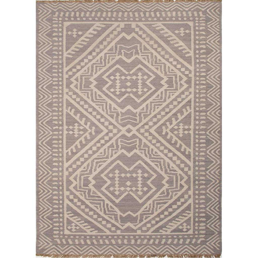 Batik Yao Medium Gray/Floral White Area Rug