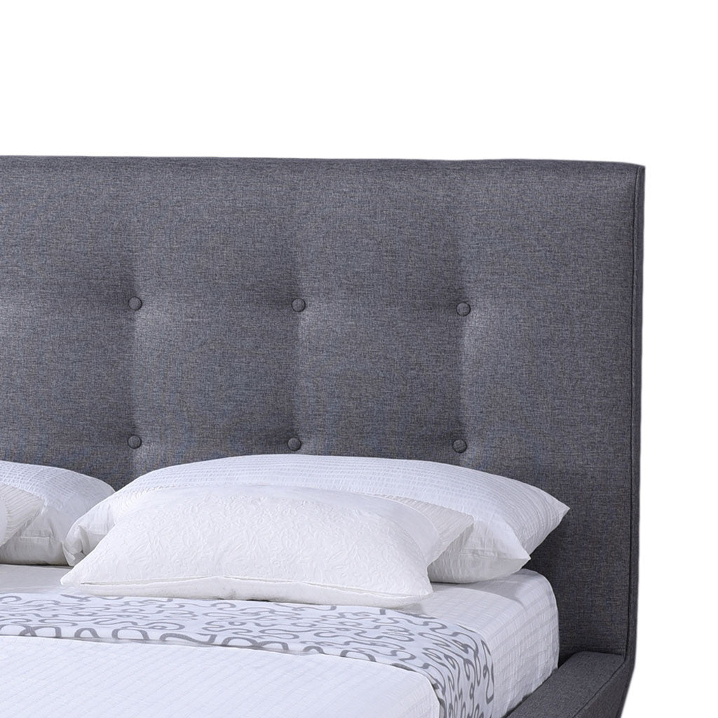 Jupiter Platform Bed Gray