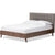 Alan Platform Bed Gray