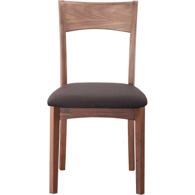 Florent Dining Chair Walnut Black Seat (Set of 2)