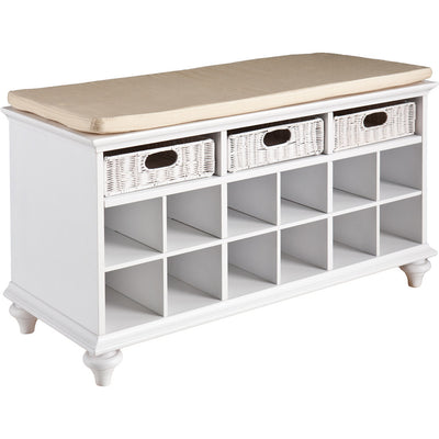 Chambers Entryway/Shoe Bench White