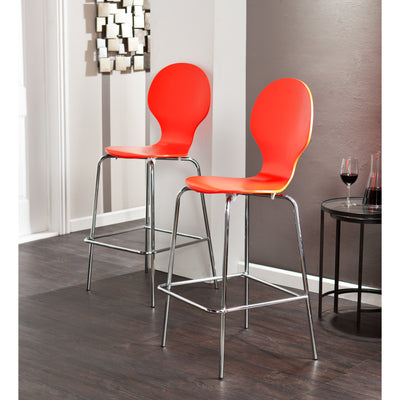 Conbie Barstool Red/Orange (Set of 2)