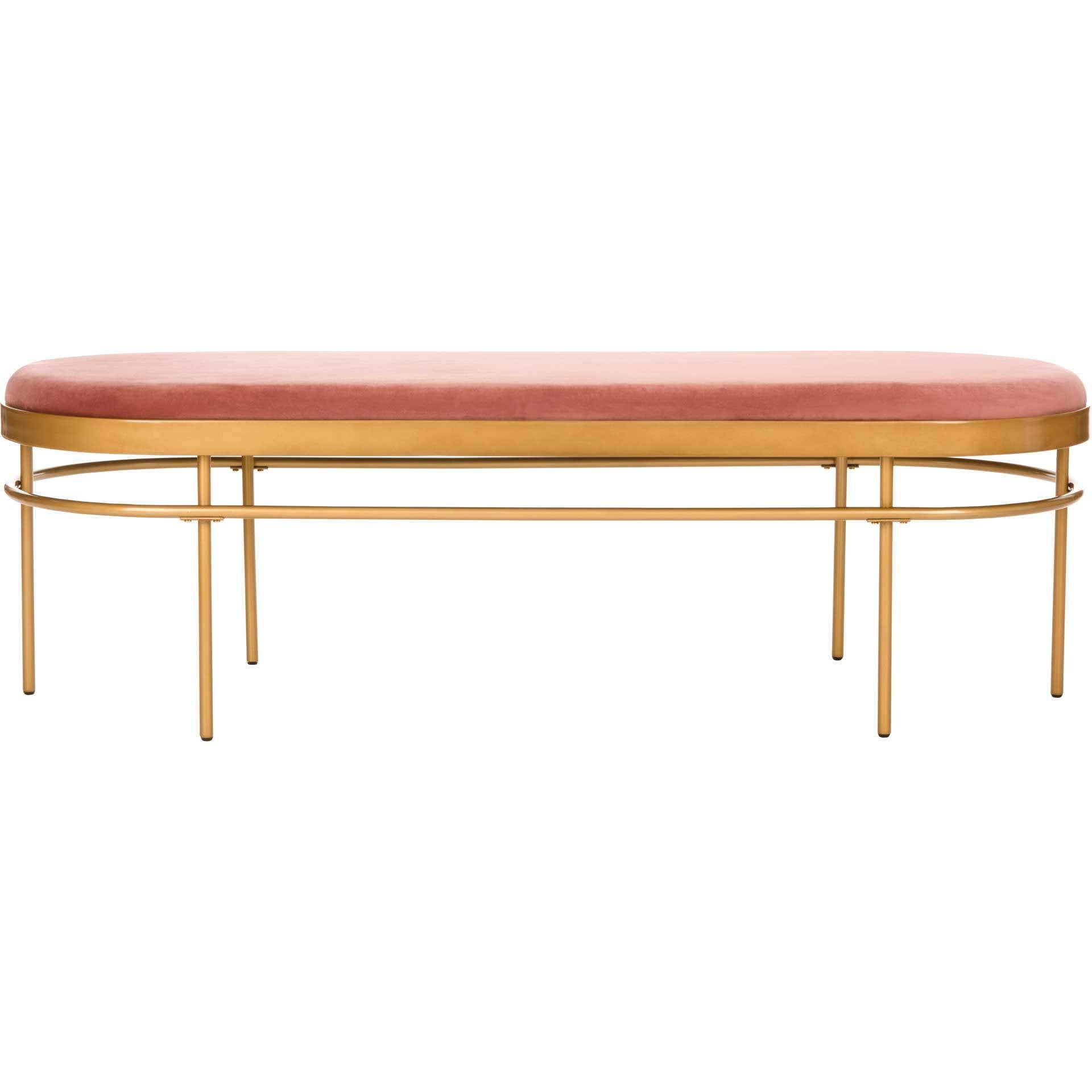 Sylas Oval Bench Dusty Rose/Gold