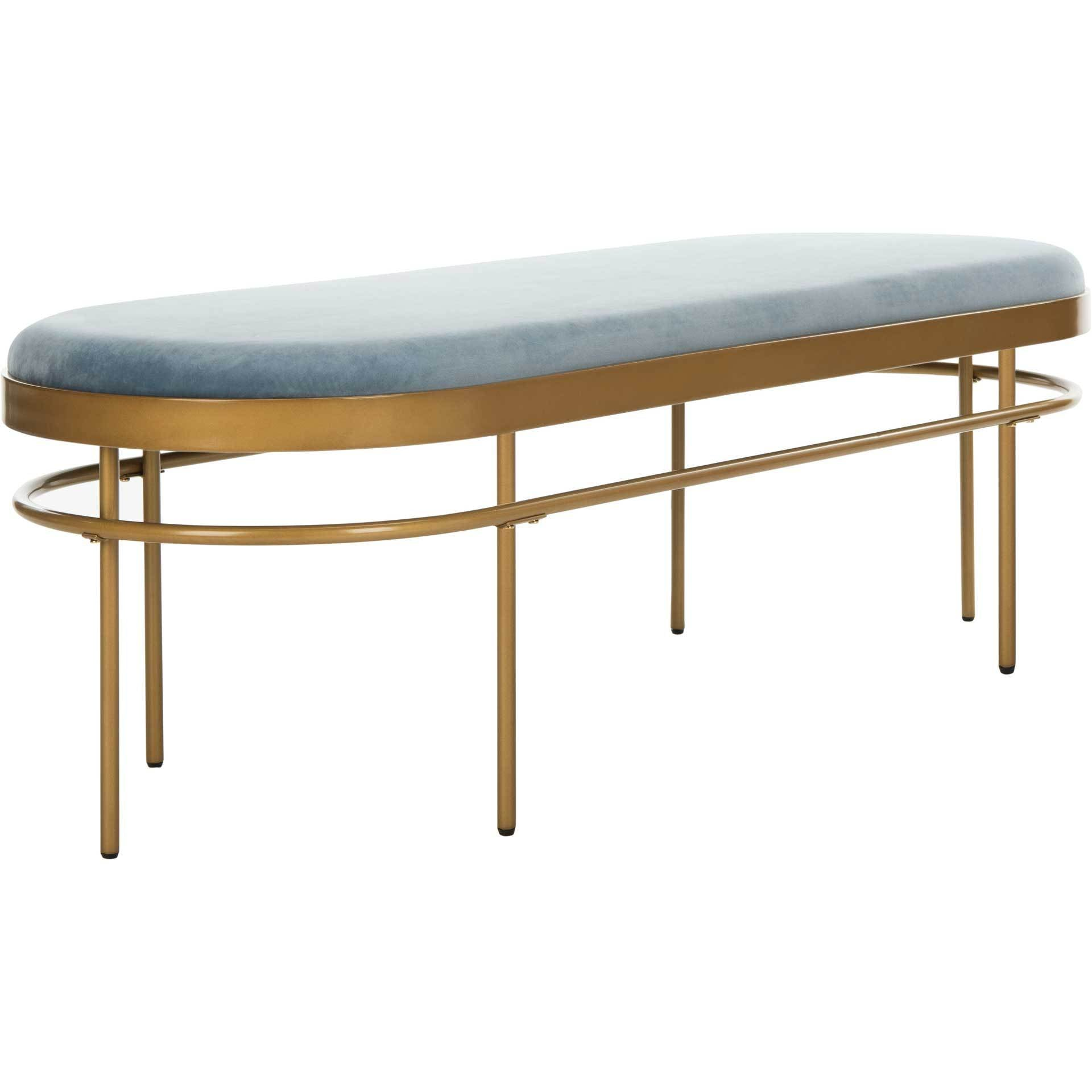 Sylas Oval Bench Slate Blue/Gold