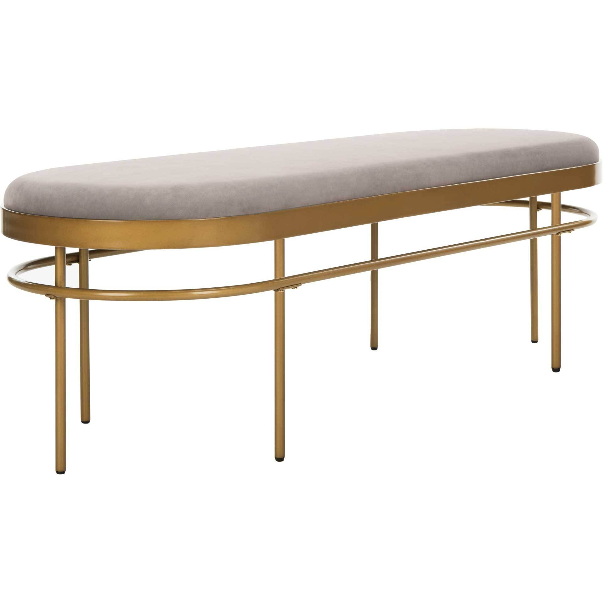 Sylas Oval Bench Gray/Gold