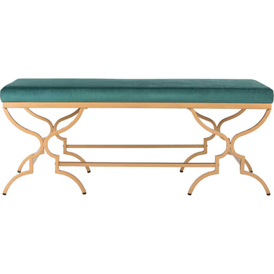 Jules Rectangular Bench Emerald/Gold