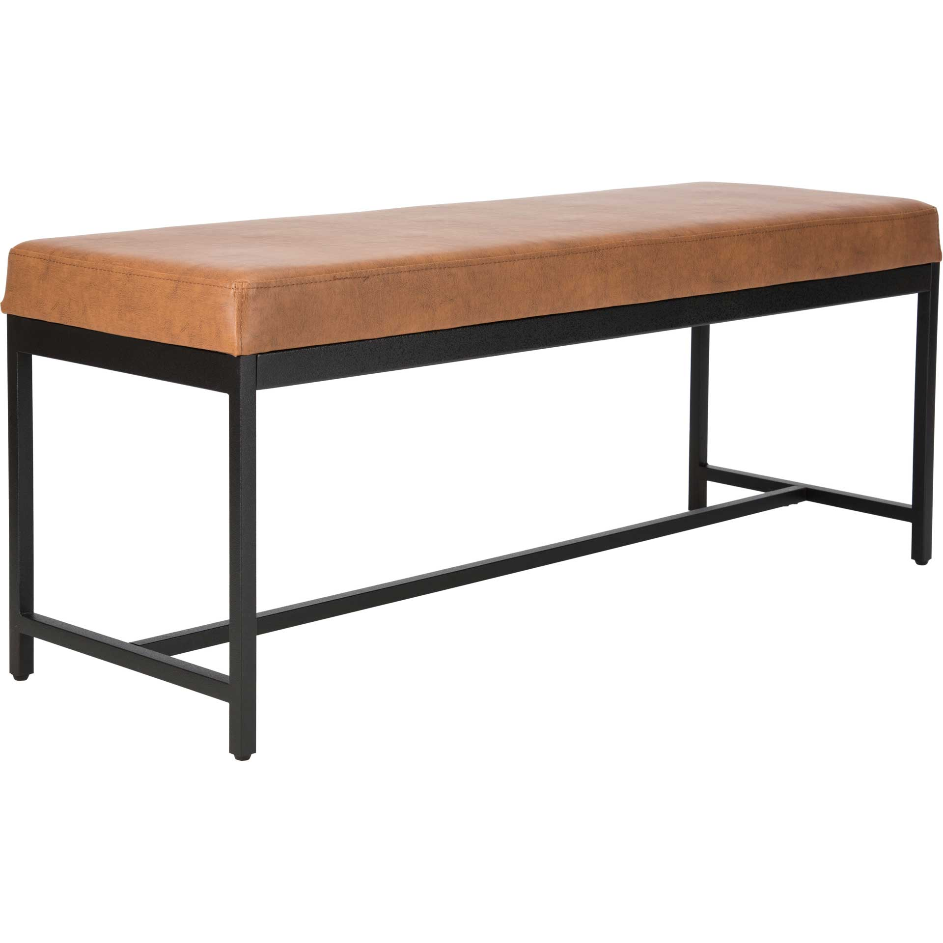 Chamonix Faux Leather Bench Brown