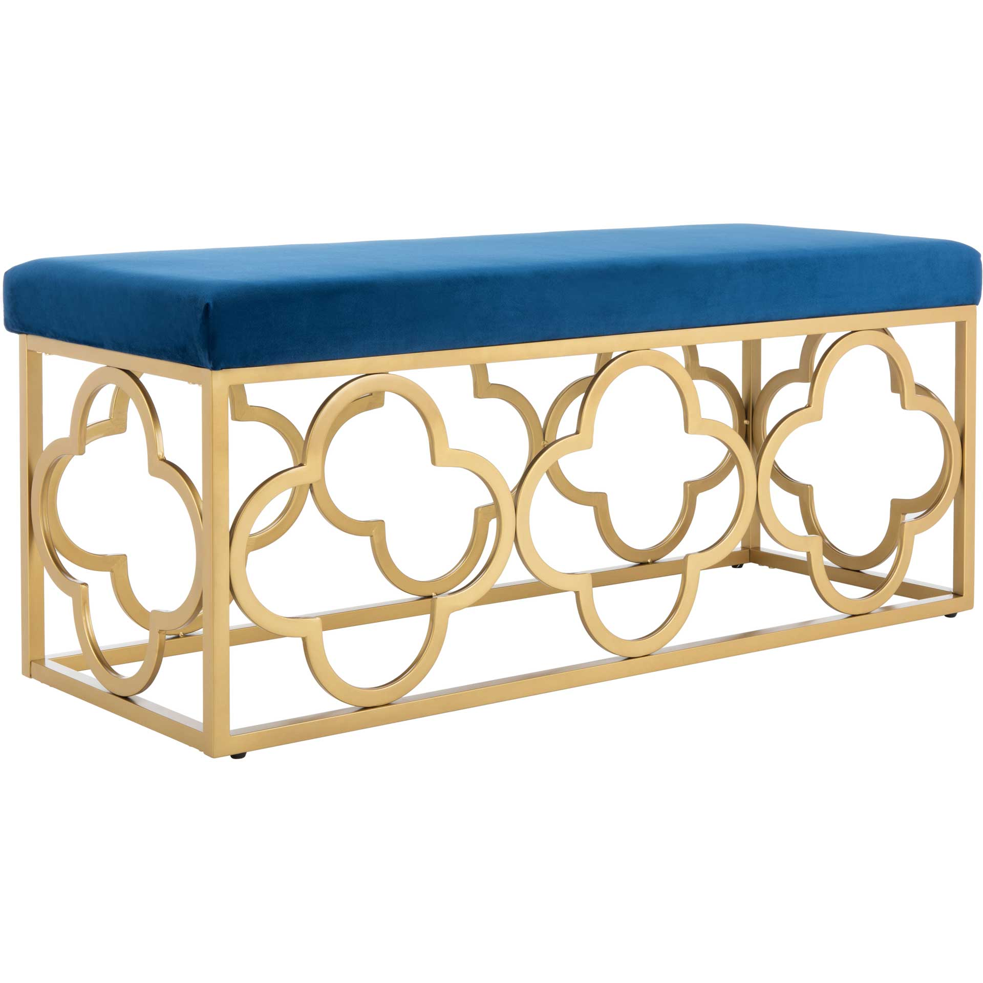 Florence Rectangle Bench Navy/Gold