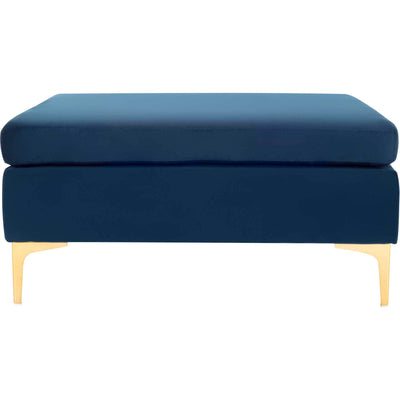 Gianni Square Bench Navy/Brass