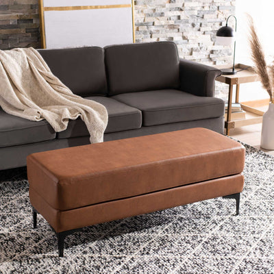 Elaine Rectangular Bench Brown/Black