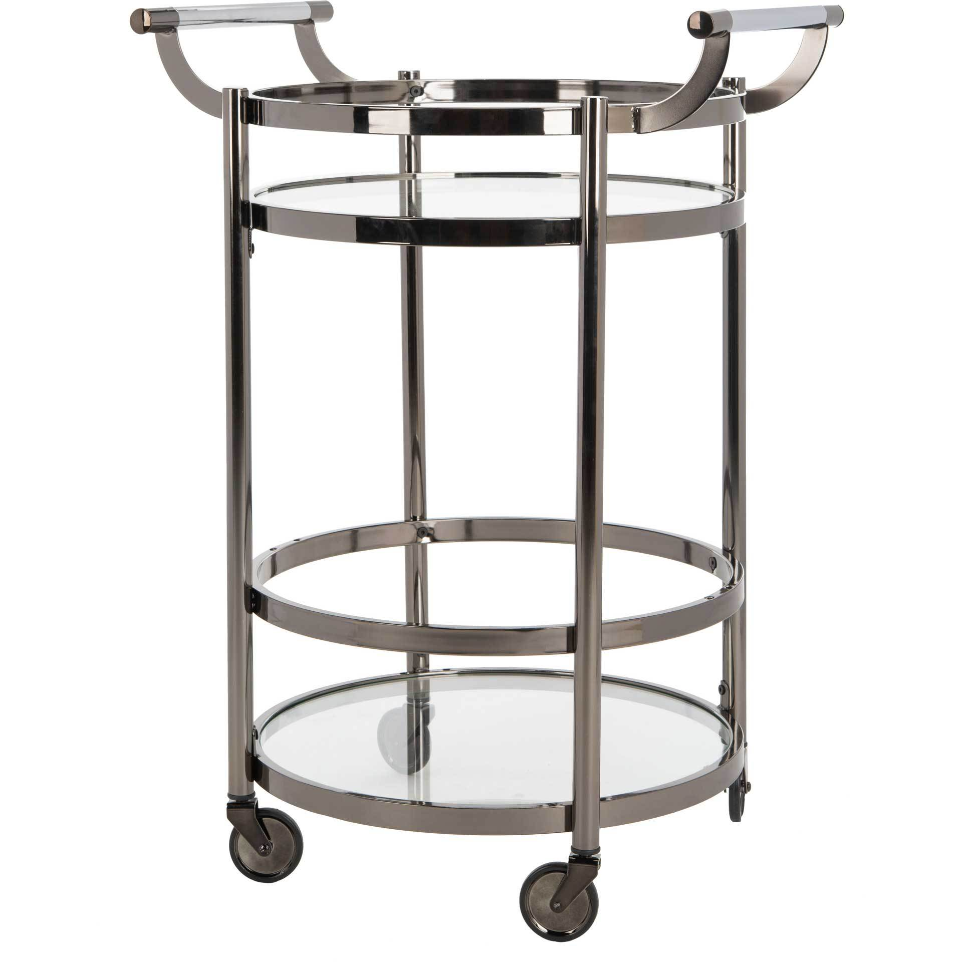 Simon 2 Tier Round Bar Cart Gun Metal