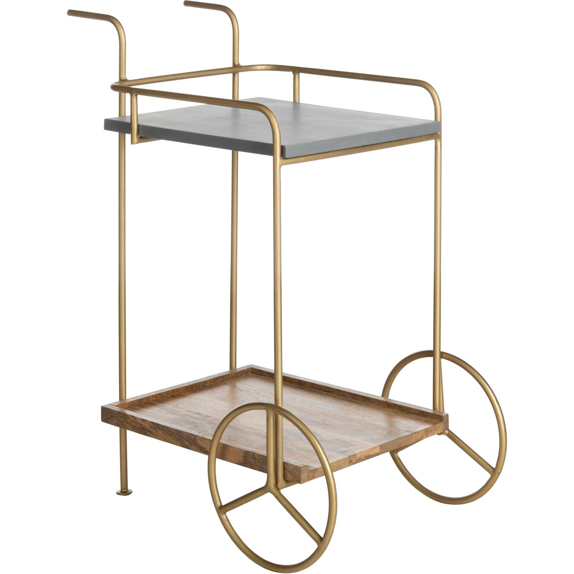 Handira 2 Tier Bar Cart Natural