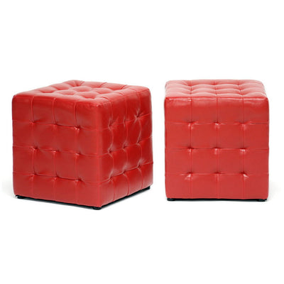 Zwolle Ottoman Red (Set of 2)
