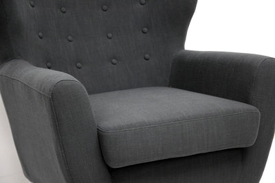 Lord Club Chair Dark Gray