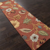 Blue Garden Party Navajo Red/Marigold Runner Rug
