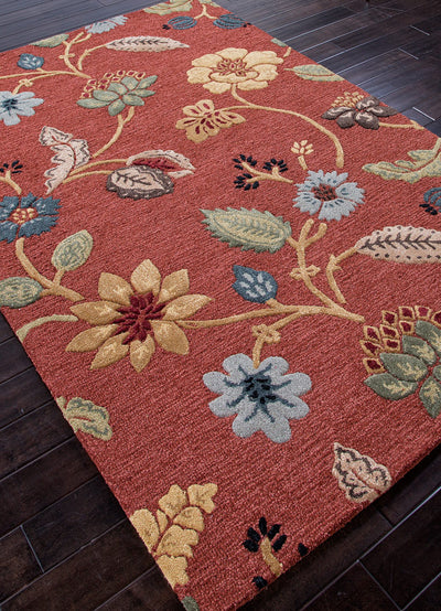 Blue Garden Party Navajo Red/Marigold Area Rug