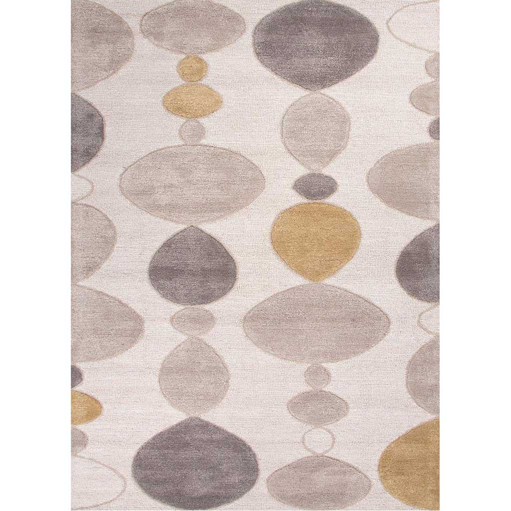 Blue Creekstone White Area Rug
