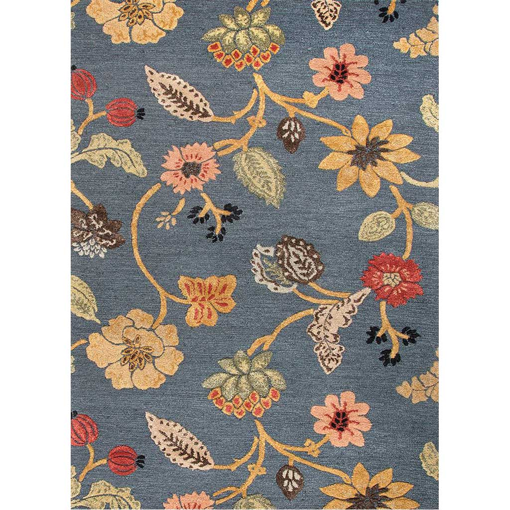 Blue Garden Party Indigo Area Rug