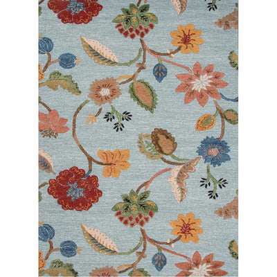 Blue Garden Party Aquifer/Red Ochre Area Rug