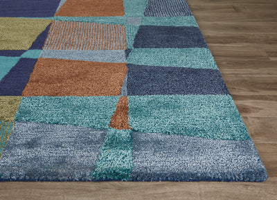 Blue Bianca Blue/Green Area Rug