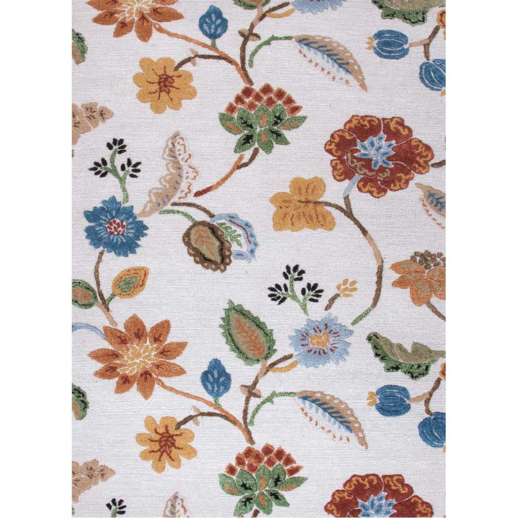 Blue Garden Party Antique White Area Rug