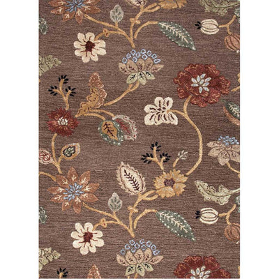 Blue Garden Party Cocoa Brown Area Rug