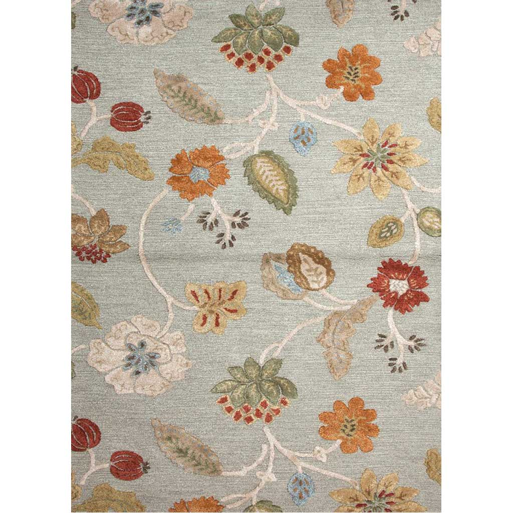 Blue Garden Party Sea Blue Area Rug
