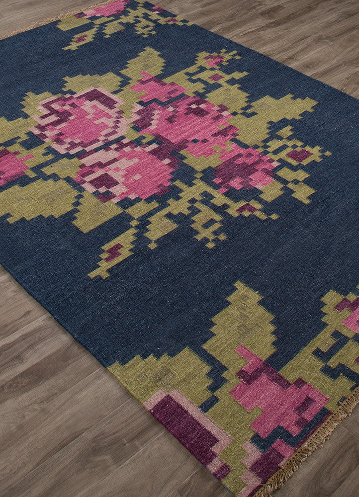 Belle Roseburg Dark Denim/Chateau Rose Area Rug