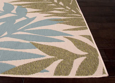 Bloom Fern Birch/Blue Surf Area Rug