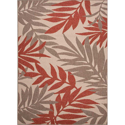 Bloom Fern Birch/Jester Red Area Rug