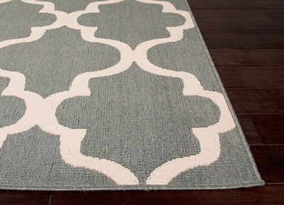 Bloom Stamped Blue Surf/Birch Area Rug