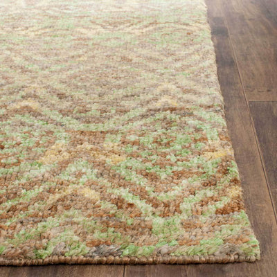 Bohemian Greenbrown Area Rug Froy