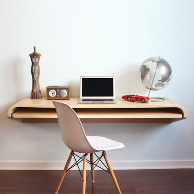 Minimal Wall Desk Rift Oak