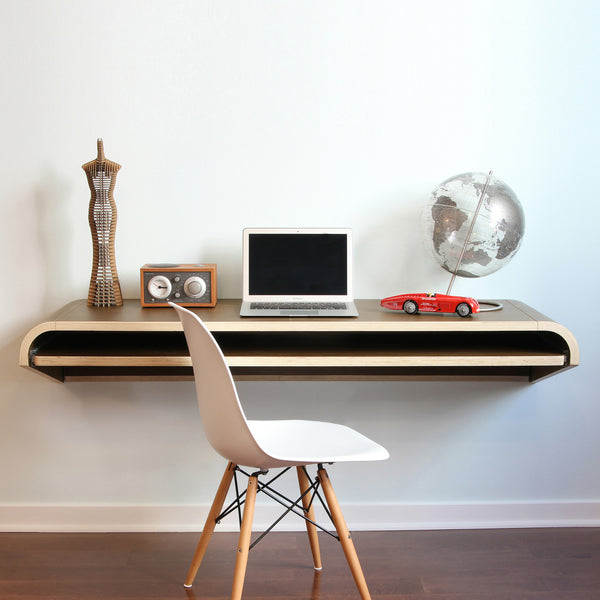 Minimal Wall Desk Walnut Froy