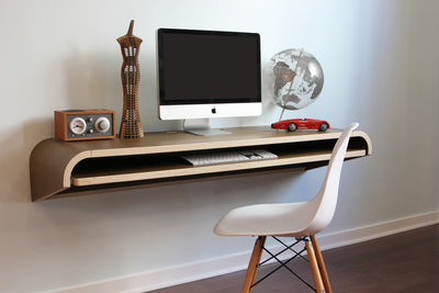 Minimal Wall Desk Walnut